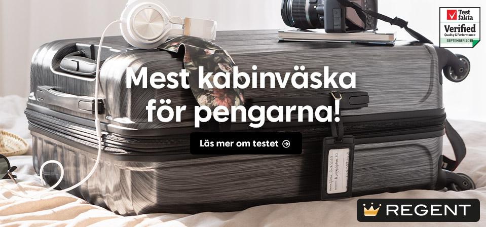 Kabinväska Regent 54x39x21 cm. 2,5 kg Mörkgrå ABSPC