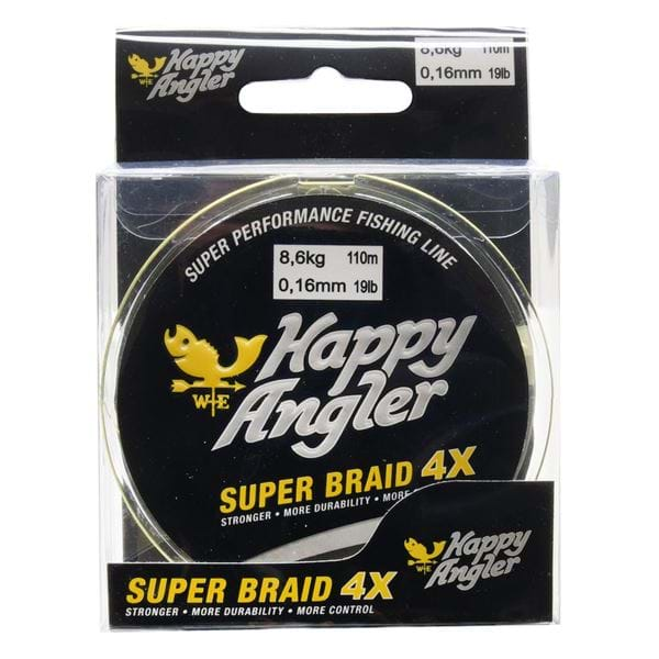 Kuitusiima Happy Angler Super Braid 4X Yellow